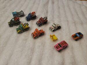 Galoob micro machines lot tow trucks, porsche, Pantera