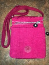 "Kipling Cross Body Bag Pink Nylon Small Women's 6 X 7 X 1.5"" Adjustable Strap"