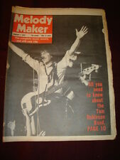 MELODY MAKER 1978 JAN 7 TOM ROBINSON BAND GALLAGHER & LYLE EDDIE & HOT RODS GAY