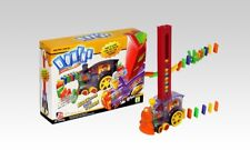 BLASTS DOMINO RALLY TRAIN - LIGHTS & SOUNDS - 80 PIECE SET NEW GREAT GIFT