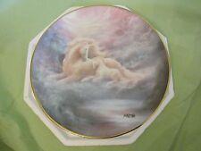 1992 Hamilton Collection Jack Shalatain A Mother's Love Unicorn Porcelain Plate
