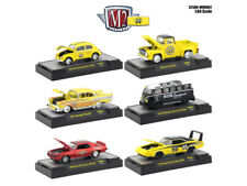 "AUTO THENTICS ""MOONEYES"" 6 PIECE CAR SET IN CASES 1/64 M2 MACHINES 32500-MOON02"