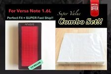 For VERSA VERSA NOTE 1.6L 2012-2016 QUALITY ENGINE&CABIN AIR FILTER A6202 1KK0A