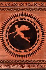 Griechische Mythologie Vasen Greek Mythology Vases ca 1850 Original Radierung 36