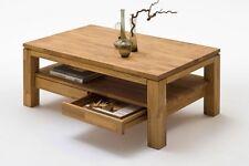 GIL Couchtisch Wohnzimmertisch Tisch Massivholz Holz Wildeiche geölt 115x70 cm
