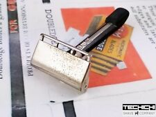 GEM Pushbutton Single Edge Vintage Safety Razor for Shaving Chrome