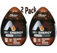 2 MiO Energy Iced Mocha Java Liquid Water Enhancer Caffeinated Discontinued