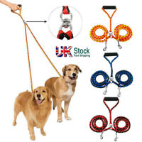 No Tangle Coupler Double Large Medium Small pet Dog Puppy Lead Twin Leashes