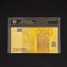 Euro banknotes Euro 200 Paper Money World Bill Currency Note In Plastic Sleeve