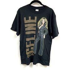 Vintage Celine Dion World Tour 2008 Band Shirt Vtg Medium Black Concert