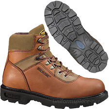 "Wolverine Work Boots Mens Traditional 6"" Boot W04213 Brown Leather Soft Toe"