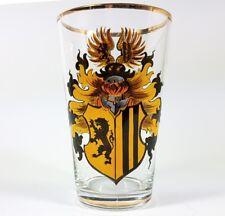 Becher, Glas/ Wappenglas, Heraldik, Emaillemalerei, Goldrand, um 1900  AL105
