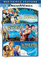 ROAD TO EL DORADO/SINBAD LEGEND OF THE SEVEN SEAS/JOSEPH KING OF DREAMS NEW