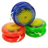 Light Up Yoyo Yo Yo Coloured Clutch Mechanism Tricks Kids Toy Speed Ball Return