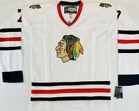 CCM Reebok Chicago Blackhawks Brent Seabrook NHL White Authentic Size 54 XL