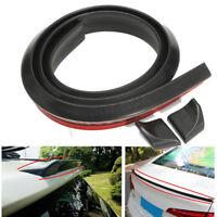4.9ft 3.5cm Universal Car Black Rear Roof Trunk Spoiler Wing Lip Trim Sticker