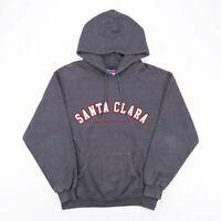 Vintage CHAMPION Grey SANTA CLARA Big Logo Sports Hoodie Size Mens Medium