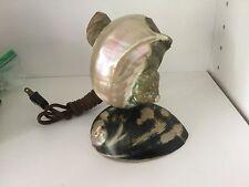 Vintage Art Deco Nouveau Nautilus Seashell Sea Shell Figural Lamp - A4 Petite