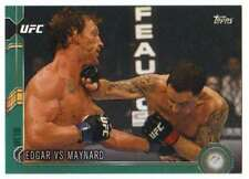 2015 Topps UFC Chronicles Green Parallel /288 #140 Edgar vs Maynard
