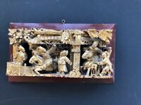 Antique Carved Chinese Wall Hanging