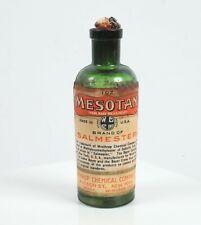 Antique Apothecary Bottle Medicine Mesotan Salmester Bayer Winthrop Chemical Co.