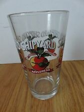 "THE SHIPYARD BREWING CO - Portland, Maine APPLEHEAD 6"" Beer Glass"