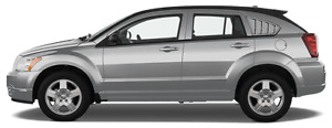 Rear Side Window Simulated Louvers Graphic Decal for Dodge Caliber 2007-2012