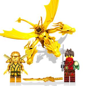 ☆ Ninjago Last Battle Set ☆ Gold Lloyd, Kai Time Blade & Wakuma Golden Dragon