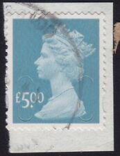 /GB MACHIN 2012 £5 Security slit Royal Mail Sc#390 -USED On Piece @Q592