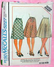 Uncut VTG McCalls Misses Sz 6-8 Knit A-Line, 4 or 6 Gore Skirts Pattern 5227