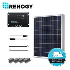 Renogy 100W 12V Solar Panel Starter Kit Off Grid System RV Boat Battery Charger