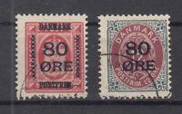 BG5867/ DENMARK – MI # 82 / 83 I COMPLETE USED – CV 190 $