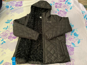 Size XS Women Columbia Copper Crest Sherpa Lined Quilted Hood Jacket