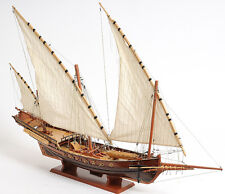 "Pirate Xebec Galley Wooden Model 35"" Corsair Barbary Mediterranean Sailing Ship"