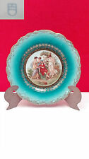 Decorative dish porcelain austria vienna, images of time in decoration.