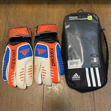 Adidas Predator FS Allround GK Football Goalkeeper Gloves - White/Blue/Red