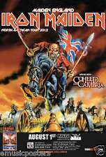 "IRON MAIDEN ""MAIDEN ENGLAND NORTH AMERICAN TOUR 2012"" POSTER - Heavy Metal Music"