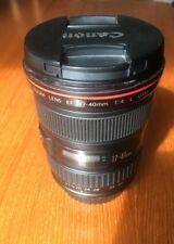 Canon EF 17-40mm F/4.0 L USM Lens - Black for Full Frame and APS-C DSLR