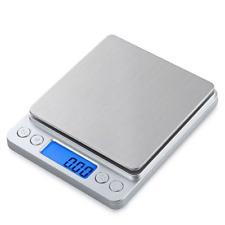 Bilancia da Cucina Elettronica Digitale 3Kg/0.1g Acciaio Inossidabile Display LC