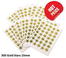 300 GOLD STARS SCHOOL TEACHER OFFICE MERIT REWARD STICKERS SELF ADHESIVE 15mm