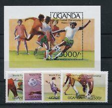 Uganda 460/63 Block 56 postfrisch / Fussball .............................2/1584