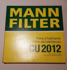 Innenraumfilter Pollenfilter für Innenraumluft Mann CU2012