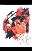 WWE RANDY ORTON HAND SIGNED AUTOGRAPHED 11X14 ROB SCHAMBERGER ART PRINT