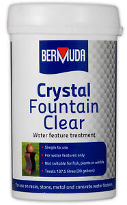 Bermuda Crystal Fountain Clear 385g Dirty Water Feature Algae Cleaner Garden