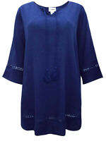 Catherines blouse tunic top plus size 16/18 20/22 24/26 28/30 32/34 36/38 blue