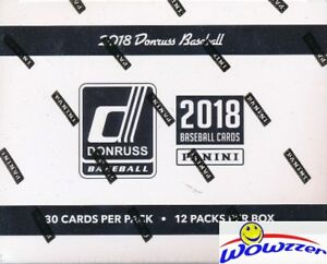 2018 Donruss Baseball Factory Sealed JUMBO FAT Pack Box-360 Card-2 AUTOGRAPH/MEM