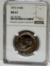 1971-D Kennedy Half Dollar NGC MS67 Beautiful Golden Tone