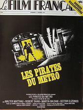 Le Film Français N°1566 (7/2/1975) Les pirates du métro - Dossier : réalisateurs