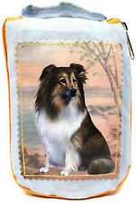 Sheltie Foldable Tote Bag - Durable, Waterproof - Zippered Market Tote