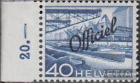 Suiza d71 usado 1950 sello de franqueo oficial